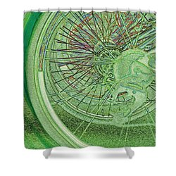 Go Green 1 By Jrr Shower Curtain by First Star Art