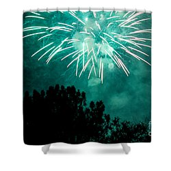 Shower Curtain featuring the photograph Go Green by Suzanne Luft
