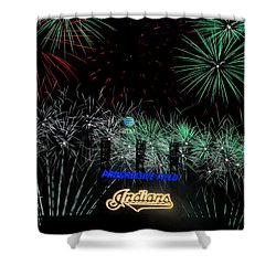Go Indians Shower Curtain by Frozen in Time Fine Art Photography