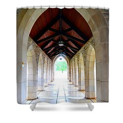 Shower Curtain featuring the photograph Go Into The Light by Deena Stoddard