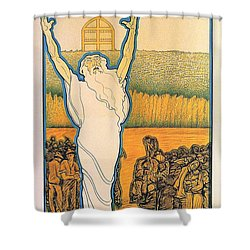 Go Up And Take Possession Of The Land Shower Curtain by Georgia Fowler