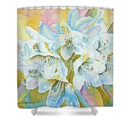 Go With The Glow Shower Curtain by Kathryn Duncan