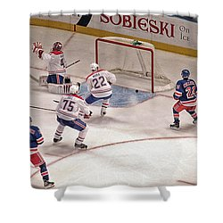 Goal Shower Curtain by Karol Livote