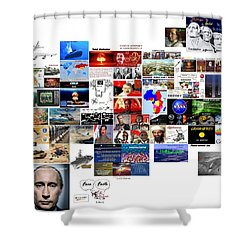 Goal Post Putin Shower Curtain by Peter Hedding