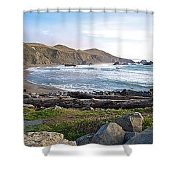 Goat Rock State Beach On The Pacific Ocean Near Outlet Of Russian River-ca  Shower Curtain