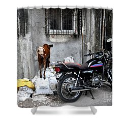 Goatercycle Shower Curtain