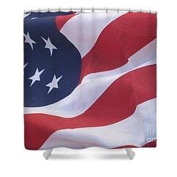 Shower Curtain featuring the photograph God Bless America by Chrisann Ellis