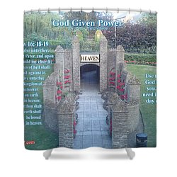 God Given Power Shower Curtain