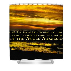 God Of Angel Armies Shower Curtain by Constance Woods