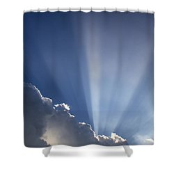 God Rays Shower Curtain