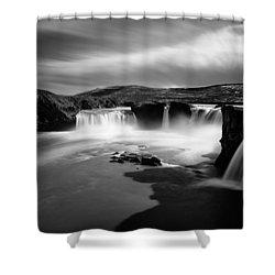 Godafoss Shower Curtain by Dave Bowman
