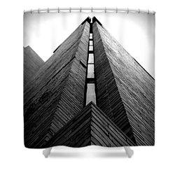 Goddard Stair Tower - Black And White Shower Curtain