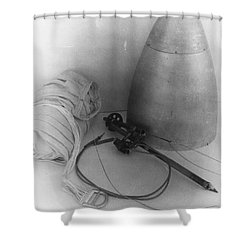 Goddards Rocket Components 1935 Shower Curtain by Science Source