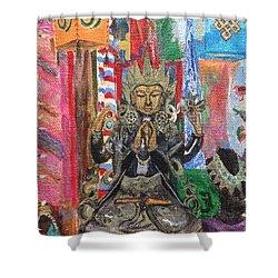 Buddha Goddess Shower Curtain by Chrissey Dittus