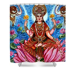 Goddess Lakshmi Shower Curtain by Harsh Malik