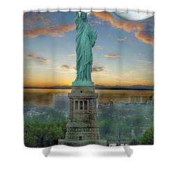 Goddess Of Freedom Shower Curtain by Gary Keesler