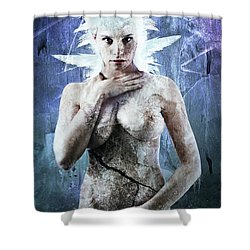 Goddess Of Water Shower Curtain by Michael Volpicelli
