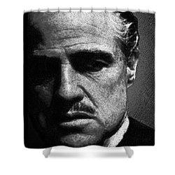 Godfather Marlon Brando Shower Curtain by Tony Rubino