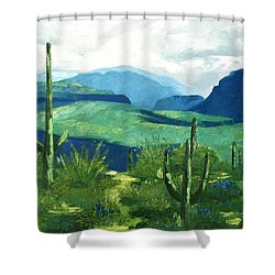 Gods Country Shower Curtain by Anthony Falbo
