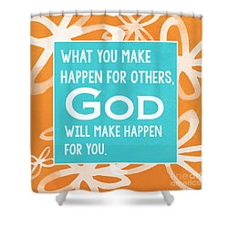 God's Gift Shower Curtain by Linda Woods