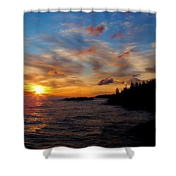 Shower Curtain featuring the photograph God's Morning Painting by Bonfire Photography