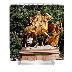 Shower Curtain featuring the photograph God's Protection by Luther Fine Art