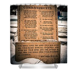 God's Ten Commandments Shower Curtain