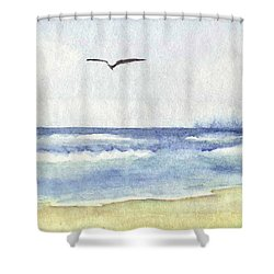 Goelan Atlantique Shower Curtain by Marc Philippe Joly