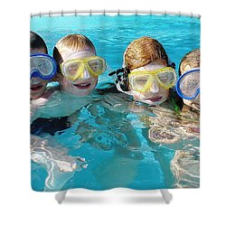 Shower Curtain featuring the photograph Goggle Eyed Quartet by David Nicholls