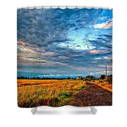 Goin' Home Oil Shower Curtain by Steve Harrington