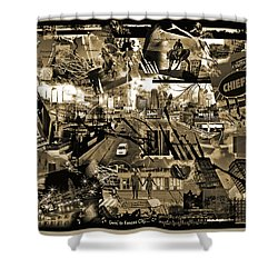 Goin' To Kansas City - Grunge Collage Shower Curtain