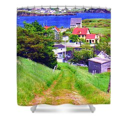 Going Down To Town Shower Curtain
