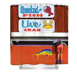 Going Fishing Shower Curtain by Kris Hiemstra
