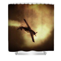 Going For Gold Shower Curtain by Paul Job