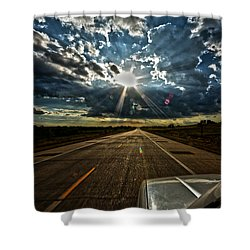 Shower Curtain featuring the photograph Going Home by Brian Duram