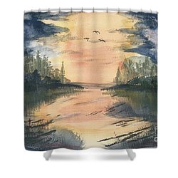 Going South  Shower Curtain