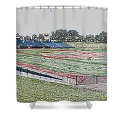 Going To The Baseball Game Digital Art Shower Curtain by Thomas Woolworth