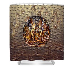 Gold Buddha Shower Curtain