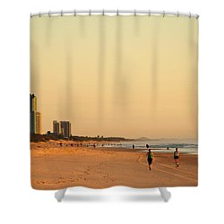 Shower Curtain featuring the photograph Gold Coast Beach by Eric Tressler