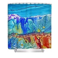 Gold In The Hills Shower Curtain
