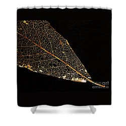 Gold Leaf Shower Curtain by Ann Horn