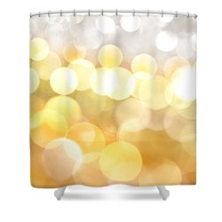 Gold On The Ceiling Shower Curtain by Dazzle Zazz