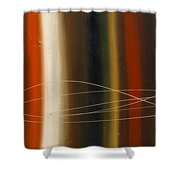 Gold Rush Shower Curtain by Carmen Guedez