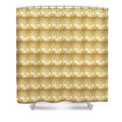 Shower Curtain featuring the photograph Gold Sparkle Tone Pattern Unique Graphics by Navin Joshi