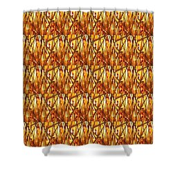 Shower Curtain featuring the photograph Gold Strand Sparkle Decorations by Navin Joshi