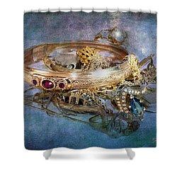 Gold Treasure Shower Curtain