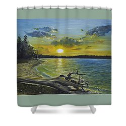 Golden Afternoon At Ketron Island Shower Curtain