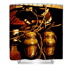 Golden Age Of Wireless Shower Curtain by Richard Reeve