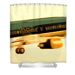 Golden And Bronze Rust Shower Curtain by Marcello Cicchini