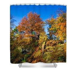 Golden Autumn On Neurathen Castle Shower Curtain